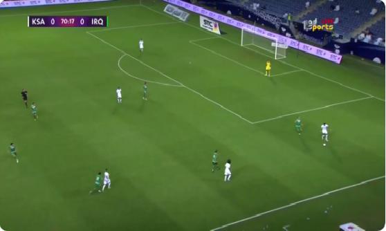 بالفيديو.. المنتخب العراقي يسجل الهدف الأول في مرمى السعودية