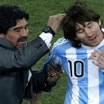 ميسي يتسبب في انتقادات حادة ضد مارادونا