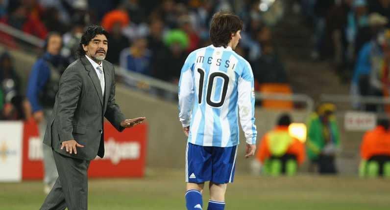مارادونا يقول لميسي: ارحل