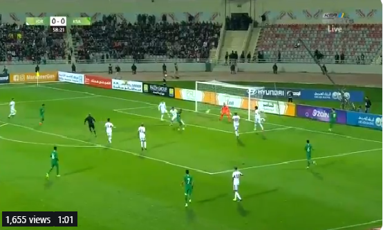 بالفيديو.. فهد المولد يسجل الهدف الأول للسعودية في شباك الأردن