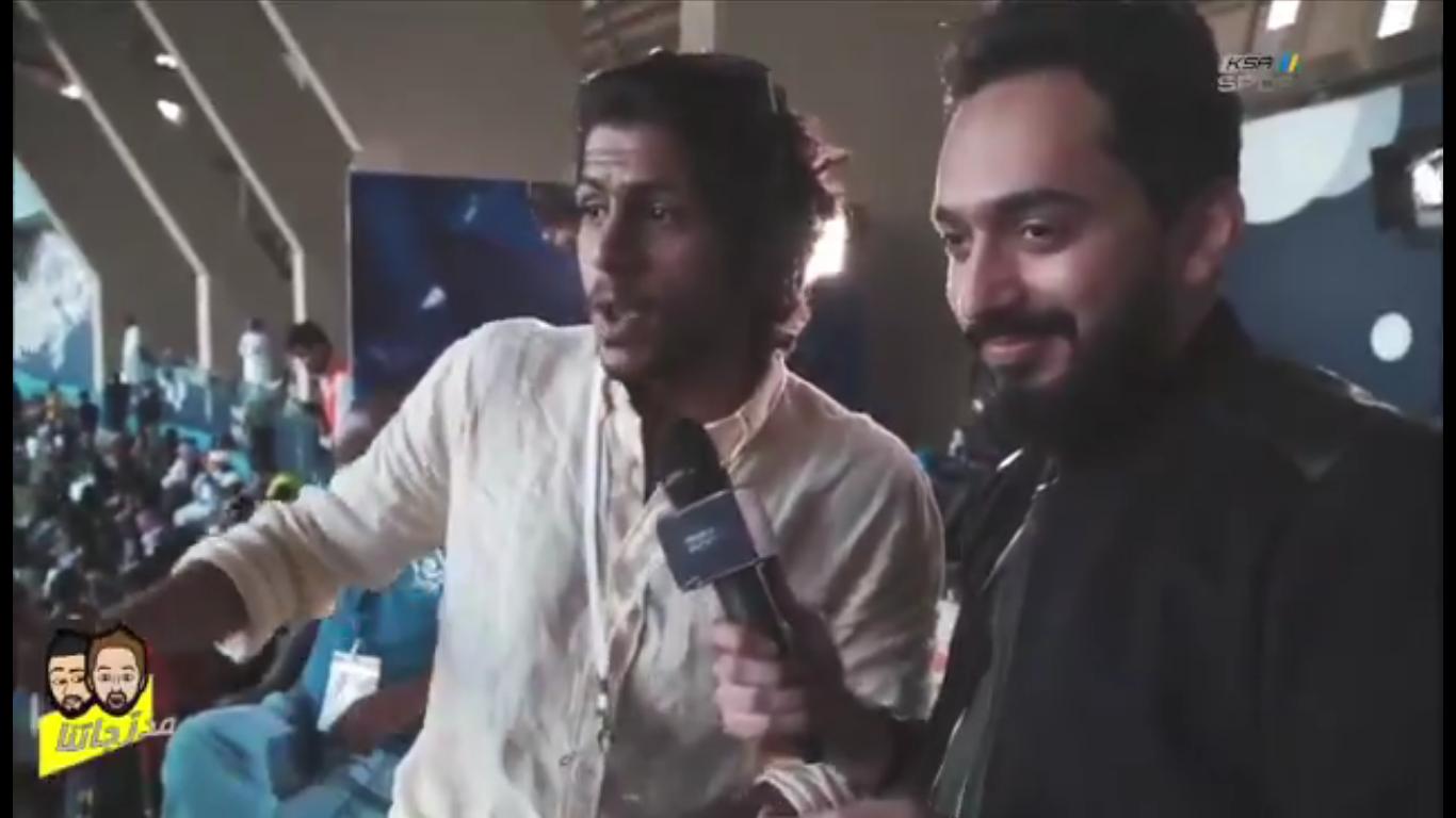 بالفيديو..ابراهيم البكيري ساخراً: جماهير النصر باقي يحتجوا على وجودي في المدرج!