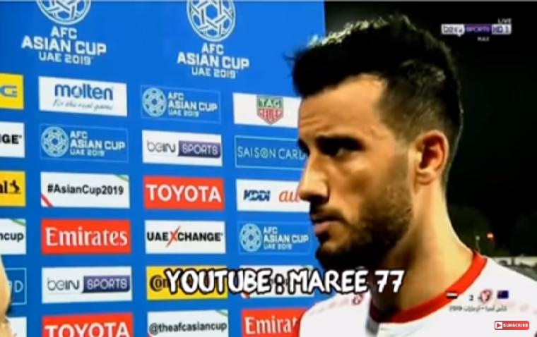 بالفيديو.. تعليق عمر السومة بعد خروج سوريا من بطولة كأس آسيا 2019