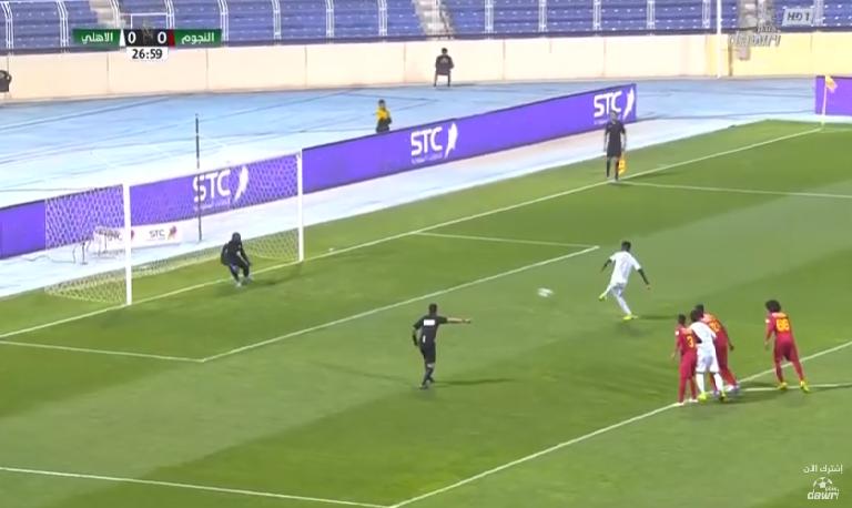 بالفيديو.. تفاريس يسجل الهدف الأول للأهلي في مرمى النجوم