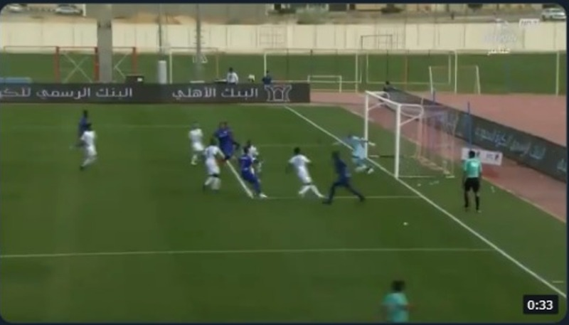شاهد.. الهدف الاول لنادي الوشم سجله اللاعب امجد برناوي في الدقيقة 10