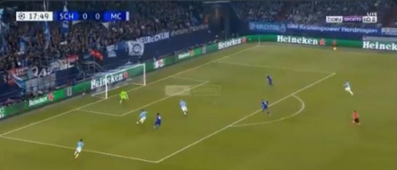 بالفيديو.. اغوويرو يسجل الهدف الأول لـ مانشستر سيتي في شباك شالكة