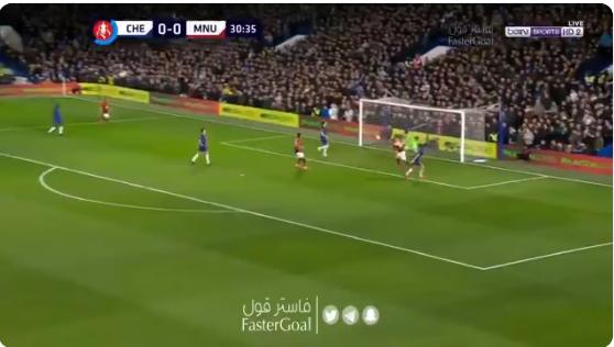 بالفيديو..مانشستر يونايتد يسجل الهدف الأول في مرمى تشيلسي