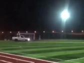 """شاهد.. رئيس النصر ينشر مقطع فيديو للتفحيط داخل ملعب ويعلق"""" الله يحفظ عيالنا""""!"""