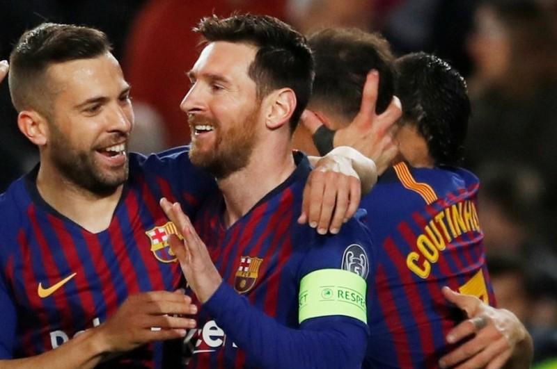 بالفيديو.. برشلونة يكتسح ليون بخماسية ويبلغ ربع نهائي الأبطال