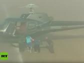 شاهد.. مسلحون على متن هليكوبتر يختطفون لاعبا إيطاليا أثناء المباراة!