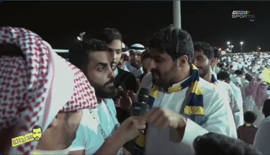 """شاهد.. مشجع نصراوي: يفوز الهلال هناك ولا هناك .. الدوري """"نصراوي"""" !!"""