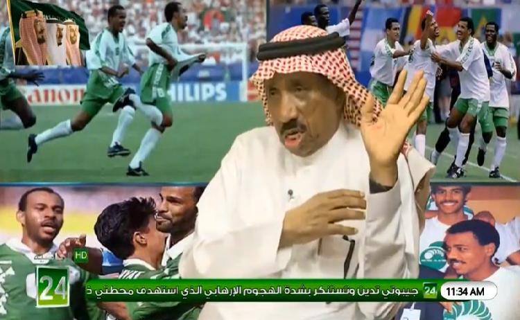 """بالفيديو.. محمد الحربي""""رئيس الشباب السابق"""" : من أسس نادي النصر هم """"الجبعاء""""!"""