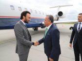 شاهد. لحظة وصول الامير عبدالعزيز بن تركي إلى بولند لمساندة الاخضر الشاب!