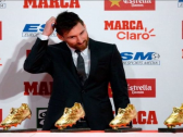 رسميًا.. ميسي يتوج بجائزة الحذاء الذهبي