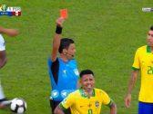 بالفيديو : الحكم يطرد البرازيلي خيسوس بعد حصوله على البطاقة الصفراء الثانية