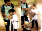 بالفيديو..طفل يبكي بعد رؤية عمر السومة