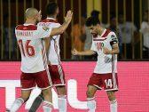 """اشتباك بالأيدي بين """"نور الدين أمرابط"""" لاعب النصر وزميله بالمنتخب المغربي"""