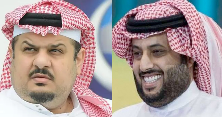 """حوار طريف يشعل تويتر بين """"آل الشيخ"""" والأمير """"عبدالرحمن بن مساعد""""والسبب"""" تيشرت الهلال""""!"""