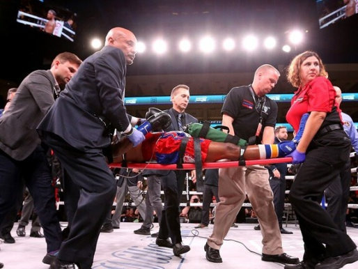 ملاكم أمريكي يدخل في غيبوبة بعد تلقيه ضربة قاضية (فيديو)