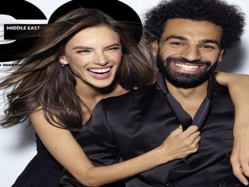 """شاهد ..محمد صلاح يظهر مع عارضة أزياء فاتنة على غلاف مجلة """"صورة"""""""