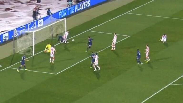شاهد : هدف بعد 4 تسديدات متتالية في دوري أبطال أوروبا