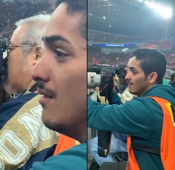 شاهد..لقطة مؤثرة لـ مصور سعودي خلال مباراة الهلال و اوراوا في نهائي دوري أبطال آسيا