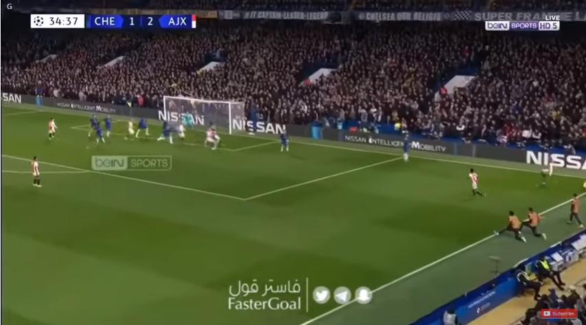 بالفيديو..حكيم زياش يحرز هدفًا رائعًا خلال مباراة تشيلسي ضد أياكس في دوري أبطال أوروبا