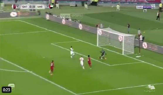 بالفيديو.. أكرم عفيف يسجل الهدف الأول لقطر في مرمى الإمارات