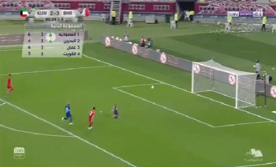 بالفيديو.. المنتخب البحريني يضيف الهدف الرابع في مرمى الكويت