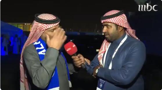 بالفيديو..يوسف الثنيان يزف الدموع بعد مشاهدته لجماهير الهلال