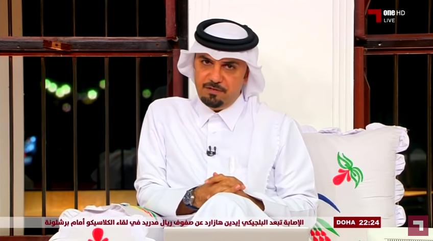 """بالفيديو..تعليق الإعلامي القطري""""خالد الجاسم"""" عقب فوز الأخضر أمام قطر"""