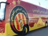 بالصور.. تشويه حافلة الترجي التونسي قبل مواجهة الزمالك المصري بكأس السوبر الإفريقي