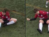 شاهد.. لاعبة تعيد ركبتها بعد الخلع إلى مكانها وتستكمل المباراة