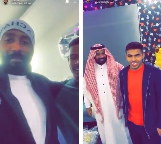"""شاهد..""""وليد عبدالله"""" و """"يحيى الشهري"""" في زيارة لاعب الهلال """"علي البليهي """""""