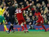 بالفيديو..ليفربول ينتزع فوزا ثمينا من نوريتش سيتي ويحلق في صدارة ترتيب الدوري الإنجليزي