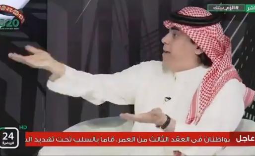 """بالفيديو..خالد الشعلان : عدنان جستنيه رمز الإعلام الرياضي في """" التقلب بالرأي """""""