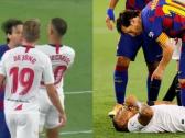 شاهد.. برشلونة يكشف سبب عدم طرد ميسي في مباراة إشبيلية
